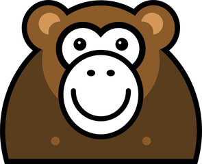 Vector monkey sign