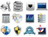 Universal Icon Set - Web Hosting poster
