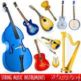 String musical instruments poster