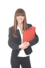 girl with folder