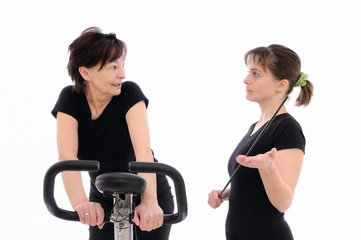 Trainer forcing to exercise