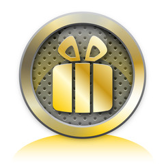 Gift metal icon