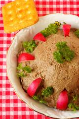 Homemade chicken liver pate