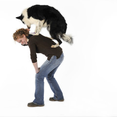 apprendre son chien à sauter sur son dos - obérythmée