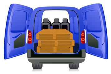 Pallet in minibus