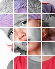 regard d'enfant en puzzle