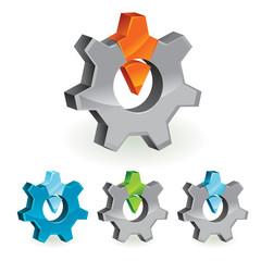 abstract design element - gear