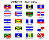 List of all flags of Central America  countries poster