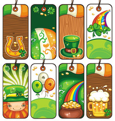 Price tags for the St. Patrick's Day