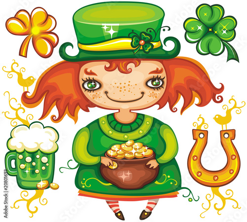 St. Patrick's Day leprechaun series 3