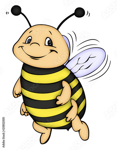 Illustration biene hummel honig bee
