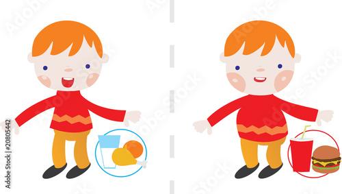 Efectos de una buena y mala alimentación en los niños