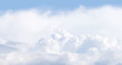 Vector illustration of cloudscape. Panoramic view. - 20806498