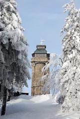 Aussichtsturm Auersberg Winter