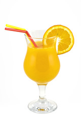 A glass of fresh orange juice ( & clipping path )