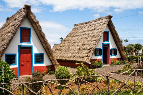 Leinwanddruck Bild Madeirahäuser