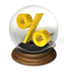 crystal ball % percent forecast