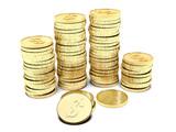Pile di monete poster