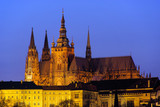 Prag Dom Nacht - Prague cathedral night 01