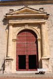 Door of Cathedral. Cartagena de Indias. Colombia poster