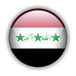 Iraq flag button, vector