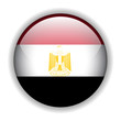 Egypt flag button, vector