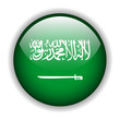 Saudi Arabian flag button, vector