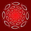 ICHTHYS Mandala rot weiss