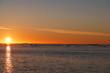 Sunrise in Nunavut Canada. Arctic ocean.