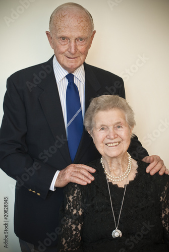 Attractive inspiring senior couple