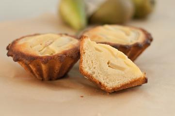 Pear and frangipani tartlets