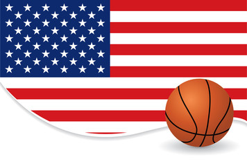 American basketball background