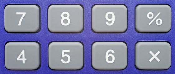 Tastatur Taschenrechner Nahaufnahme
