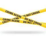 crime scene tape (vector) poster