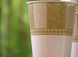 Brown and White Paper Cup