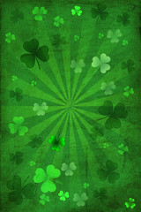 St Patrick Day Clover Background