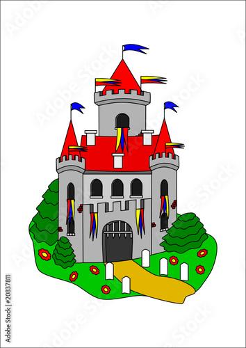 Foto op Aluminium Kasteel Fairytale castle