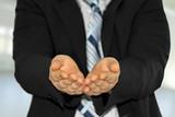Hände aufhalten poster
