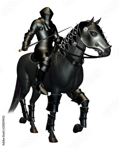 The Black Knight on Horseback