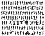Fototapety Silhouettes of the people
