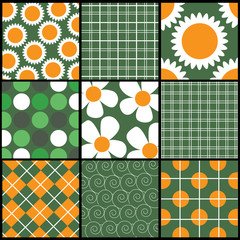 A set of 9 vector patterns