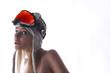 woman ski goggle