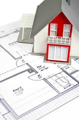 Hausmodell mit Grundriss