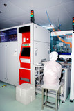 Automated production line in modern Solar silicon factory poster