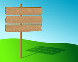 Wooden desirable sign. Vector. poster