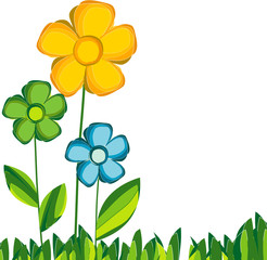 Floral background with flowers. Vector Illustration
