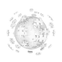 Decomposed sphere of puzzle