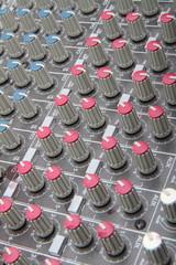 sound mixer in a sound recording studio