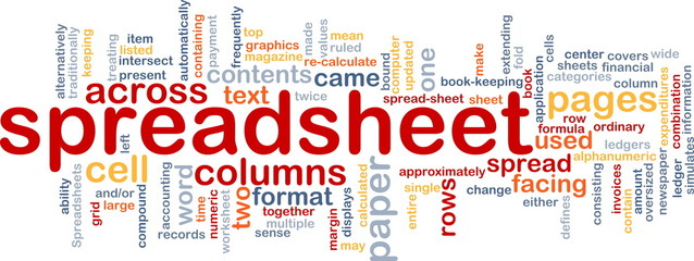 Spreadsheet word cloud
