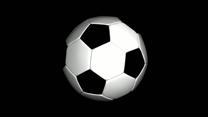 Fussball springend